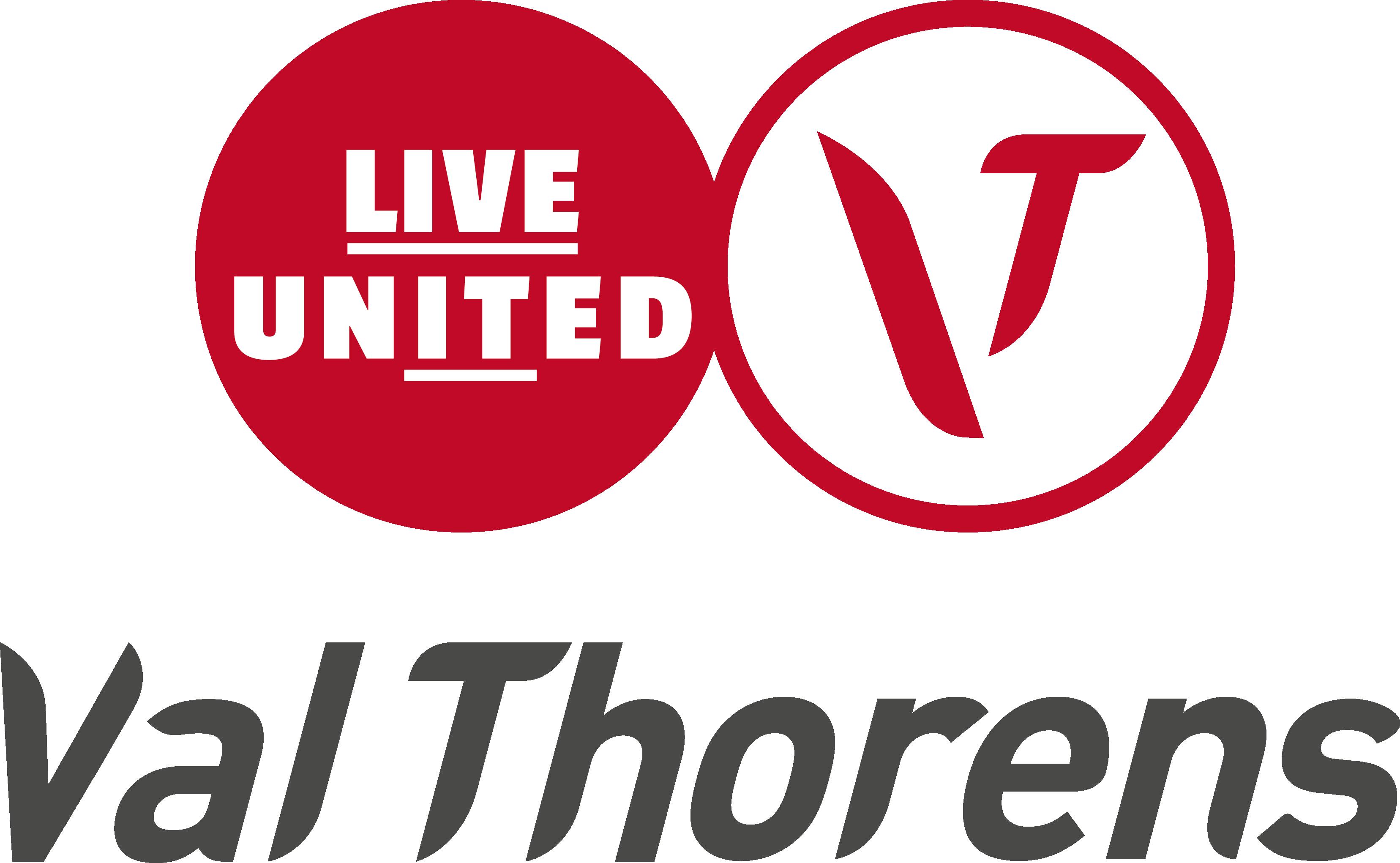 Logo Val Thorens - Rouge et Gris (V)